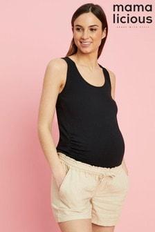 Mamalicious Maternity Linen Woven Shorts