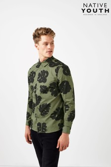 Native Youth Forest Floral Printed Shirt