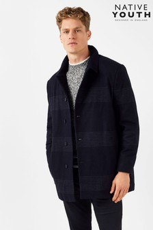 Native Youth Placement Stripe Overcoat