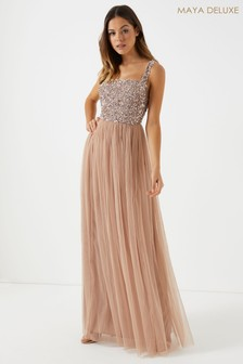 Maya Sleeveless Embellished Maxi Dress