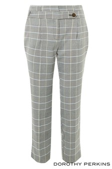 Dorothy Perkins Petite Check High Waist Trousers
