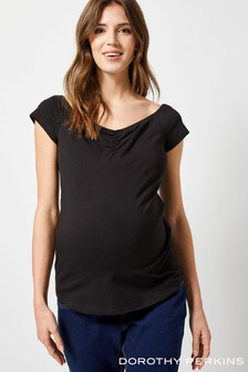 Dorothy Perkins Maternity Sweetheart Ruched Bardot Top