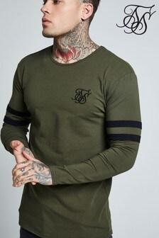 SikSilk Long Sleeve Logo T-Shirt