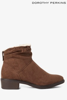 Dorothy Perkins Ruched Ankle Boots
