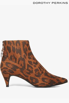 Dorothy Perkins Pointed Leopard Print Ankle Boot