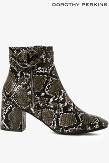 Dorothy Perkins Faux Snake Formal Ankle Boot