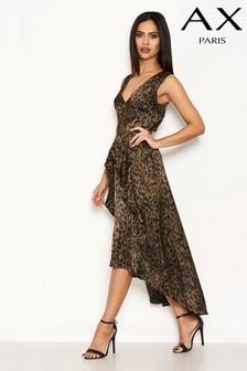 AX Paris Animal Print Satin Dress