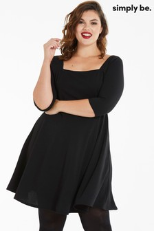 Simply Be Square Neck Skater Dress