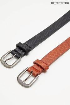 PrettyLittleThing Belt - Pack Of 2
