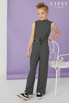Lipsy Girl Stripe Jumpsuit