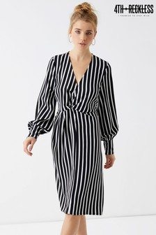 4th & Reckless Knot Front Stripe Dress