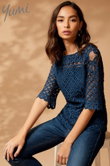Yumi Floral Lace Top