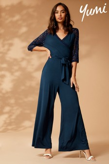 Yumi Jersey And Lace Jumpsuit