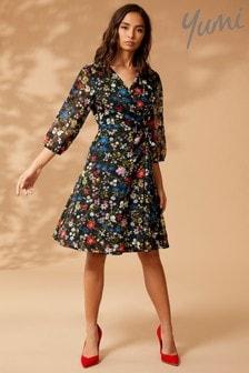 Yumi Floral Print Wrap Dress