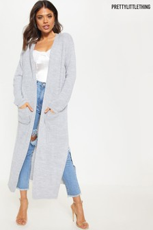 PrettyLittleThing Pocket Front Maxi Cardigan