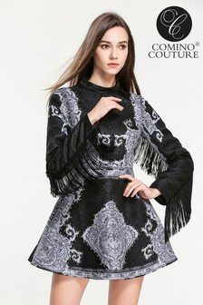 Comino Couture Limited Edition Fringed Vintage Dress