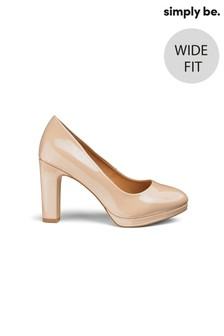 Simply Be Wide Fit Court Shoes