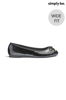 Simply Be Basic Wide Fit Ballerina Shoes