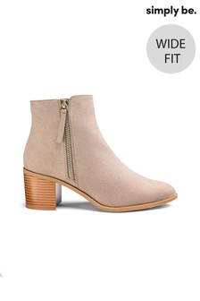 Simply Be Wide Fit Side Zip Boots