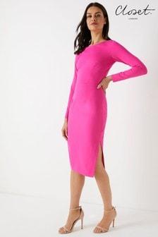 Closet Long Sleeve Bodycon Dress