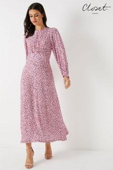 Closet Puff Sleeve A line Dress