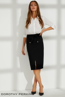 Dorothy Perkins Belted Pencil Skirt