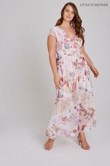 130406ca48 Little Mistress Curve Floral Lace Insert Maxi Dress