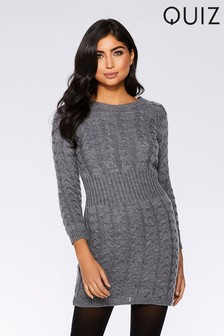 Quiz Knitted Jumper Dress