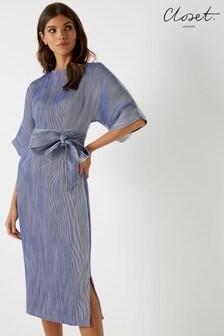 7f1e265b8f Closet Kimono Stripe Side Slit Midi Dress