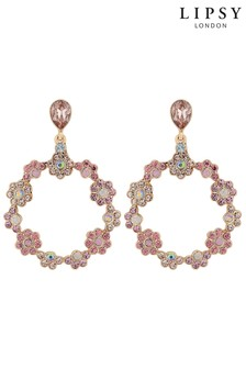 Lipsy Front Facing Floral Hoop Earring