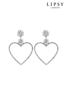 Lipsy Front Facing Flat Heart Hoop Earrings