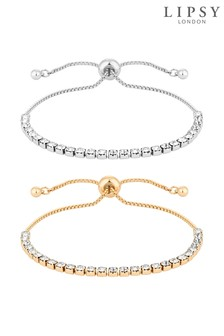Lipsy Multi-Tone Toggle Bracelet Set - Pack of 3