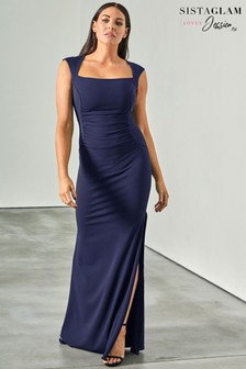 Sistaglam Love Jessica Ruched Front Dress