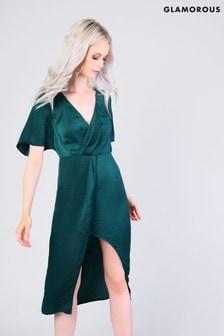Glamorous Wrap Midi Dress