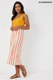 Glamorous Stripe Midi Skirt