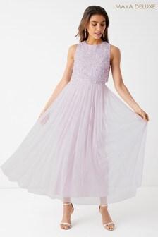 Maya Sleeveless Double Layer Midi Dress