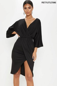 PrettyLittleThing Archer Cape Midi Dress