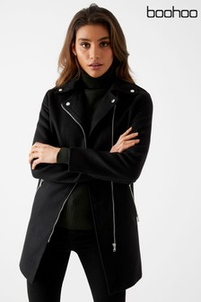 Boohoo Zip Detail Coat