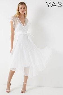 Y.A.S Organza Frill Dress