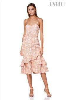 Jarlo Floral Lace Midi Dress