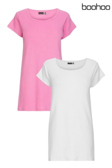 Boohoo Maternity Basic T-Shirt - 2 Pack