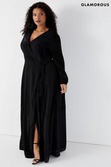 Glamorous Curve Wrap Front Dress
