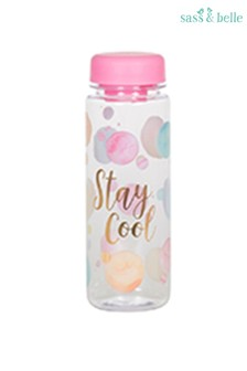Sass & Belle Paint Splash Clear Stay Cool Water Bottle