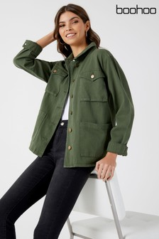 Boohoo Denim Utility Jacket