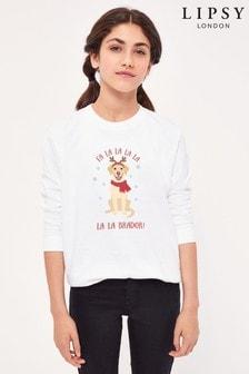 Instajunction Lipsy Christmas Labrador Kid's Sweatshirt
