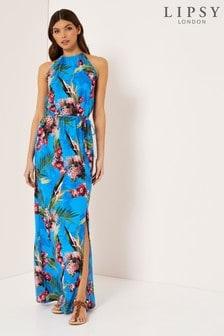 Lipsy Tropical High Neck Maxi Dress