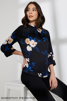 Dorothy Perkins Floral 3/4 Sleeve Top