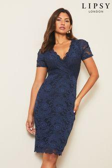 Lipsy Short Sleeve Lace Bodycon Dress