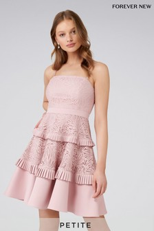 Forever New Petite Angel Strappy Spliced Lace Dress