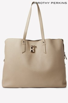 Dorothy Perkins Padlock Triple Compartment Tote Bag